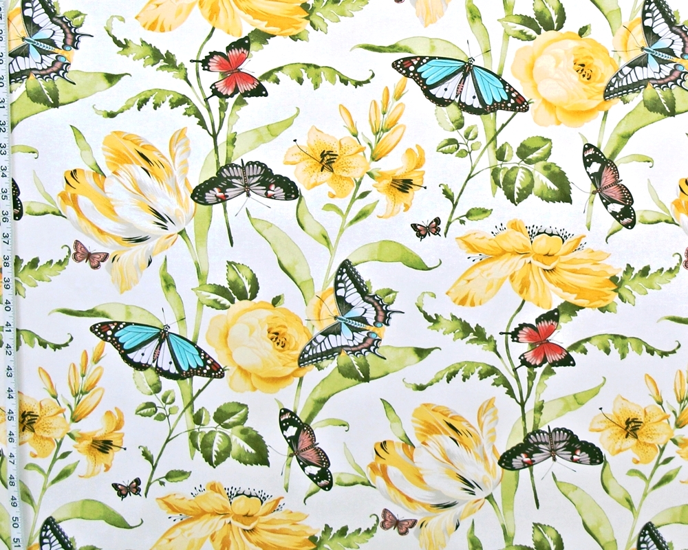 YELLOW TULIP GARDEN FABRIC