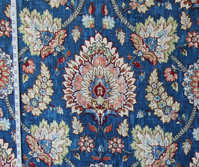 BLUE PERSIAN RUG FABRIC
