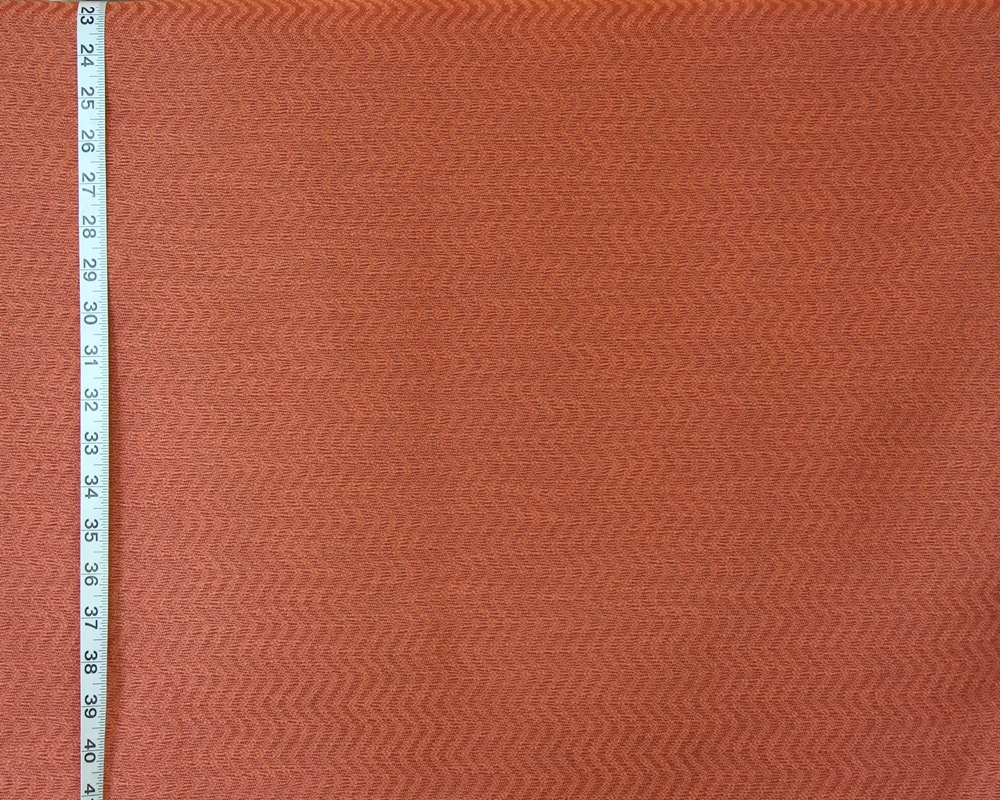 Clarence House Orange Tone On Tone Striped Upholstery Fabric Salina