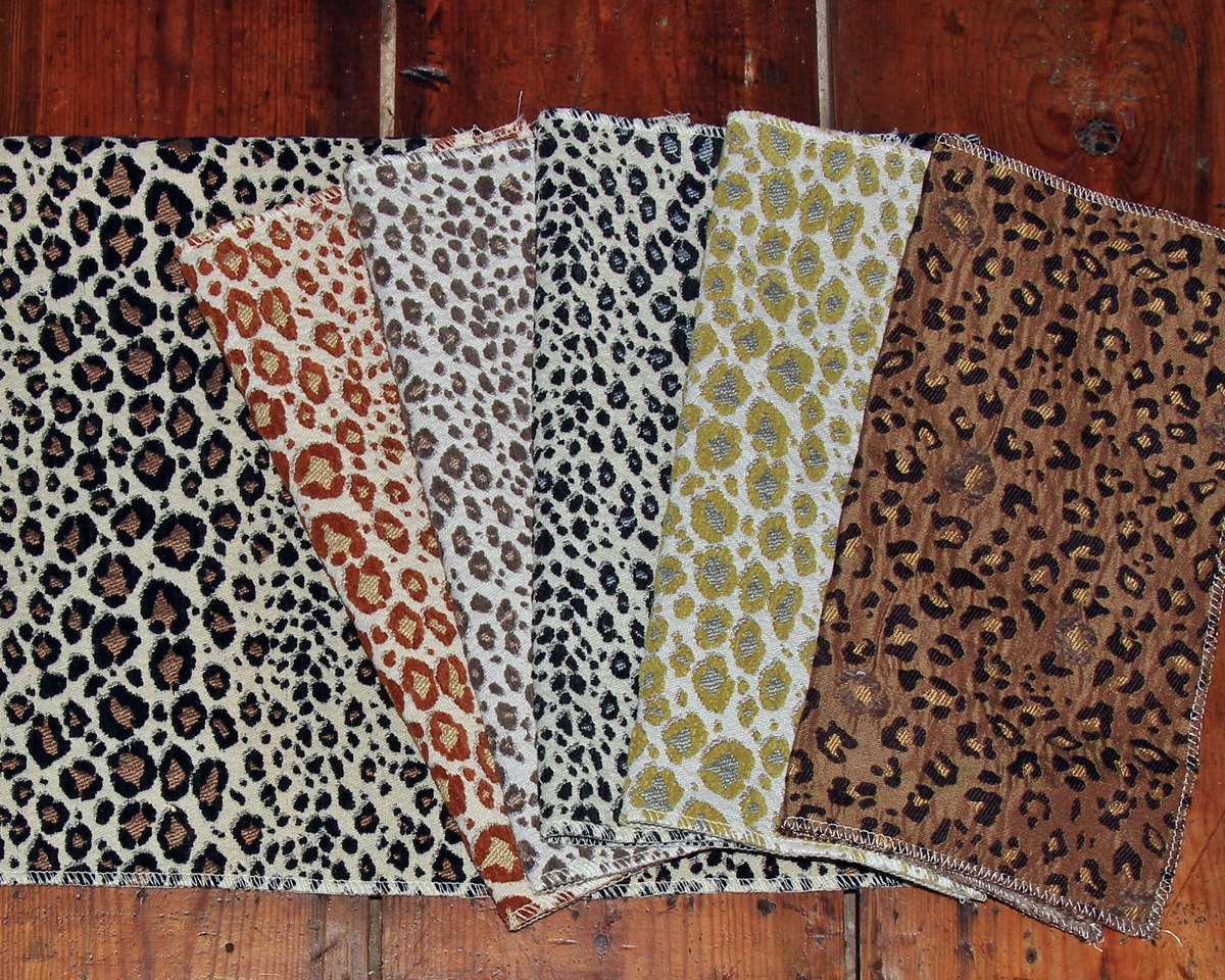 WOVEN LEOPARD SKIN FABRIC SAMPLES
