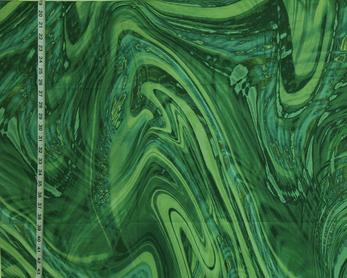 GREEN MALACHITE FABRIC