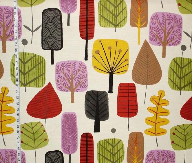 Retro Scandinavian Wood Fabric Tree