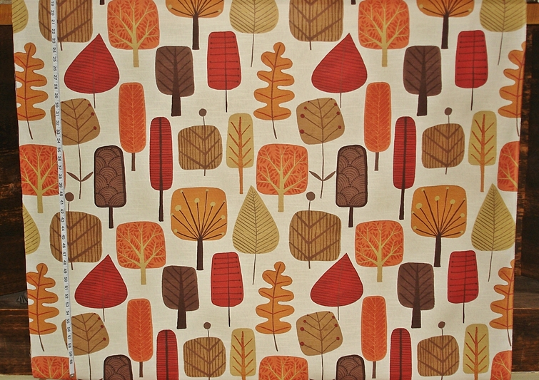 FALL SCANDINAVIAN TREE FABRIC