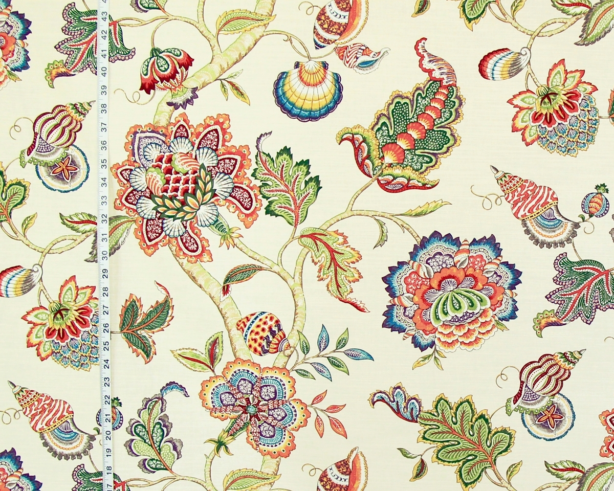 SEASHELL INDIENNE TREE OF LIFE FABRIC
