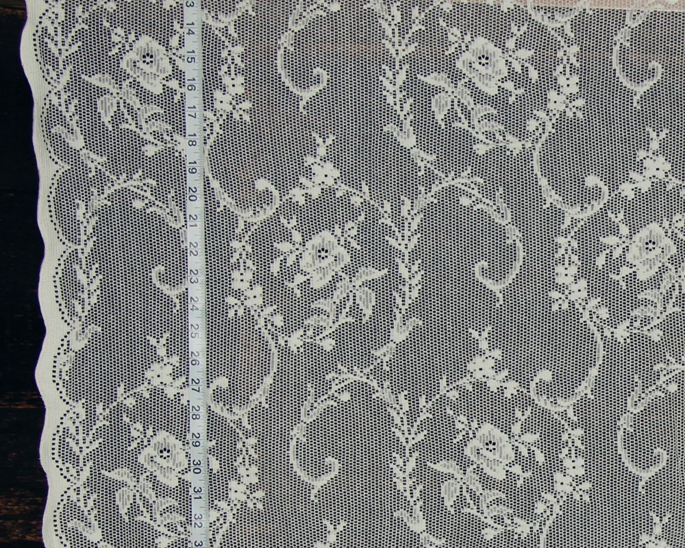 ROSE SCROLL LACE FABRIC