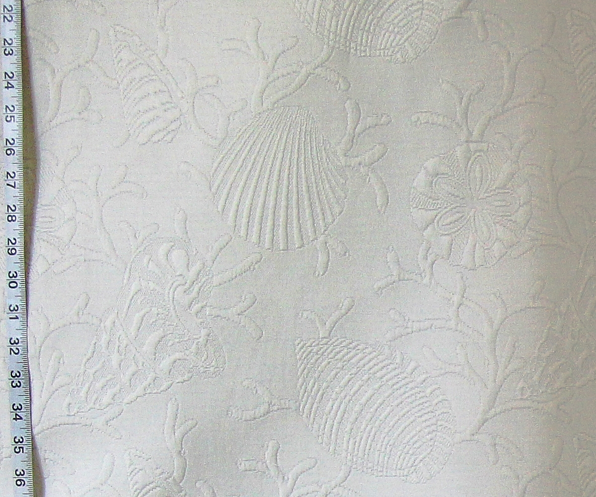 CLARENCE HOUSE SEASHELL MATELASSE FABRIC