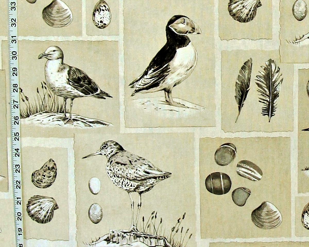 SHORE BIRD FABRIC SEAGULL PUFFIN
