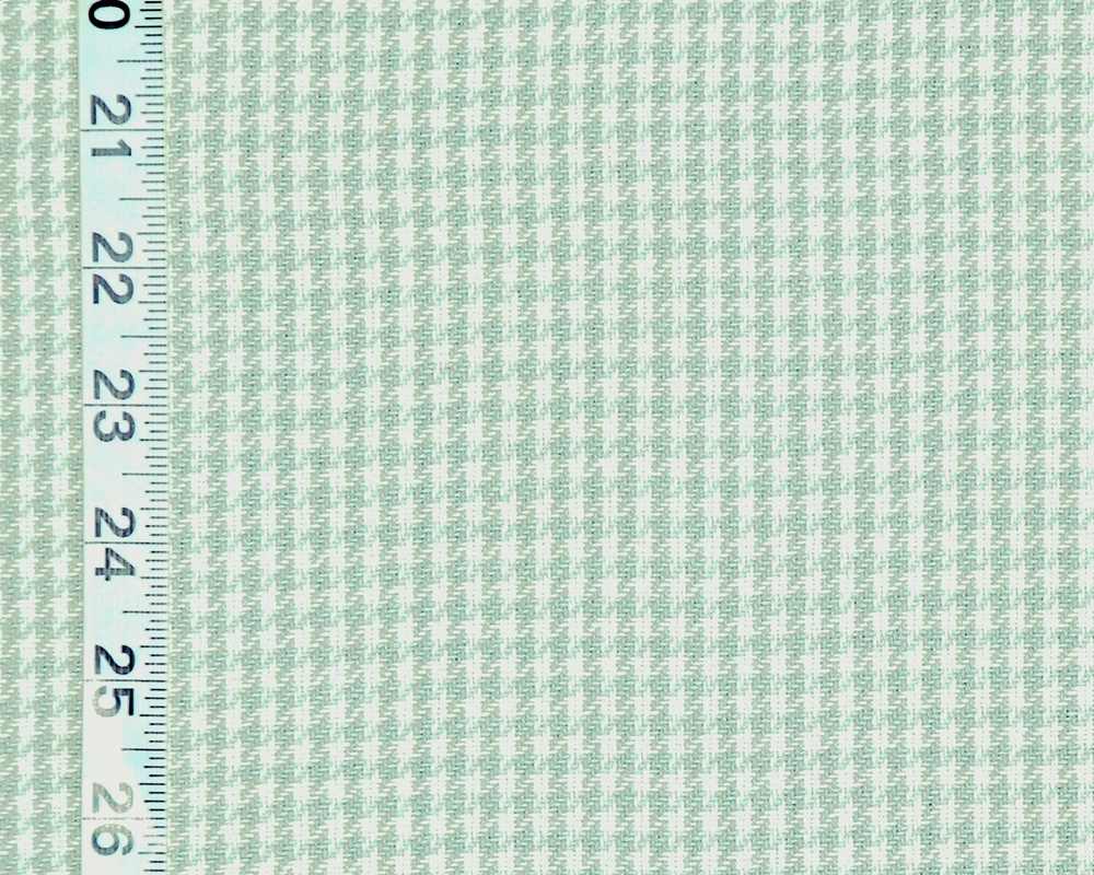 Spa Green Blue Houndstooth Fabric