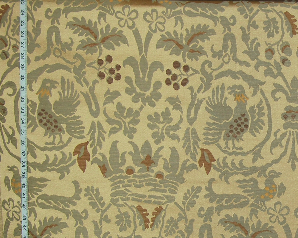 French Medieval Satin Upholstery Fabric Clarence House Sommerset