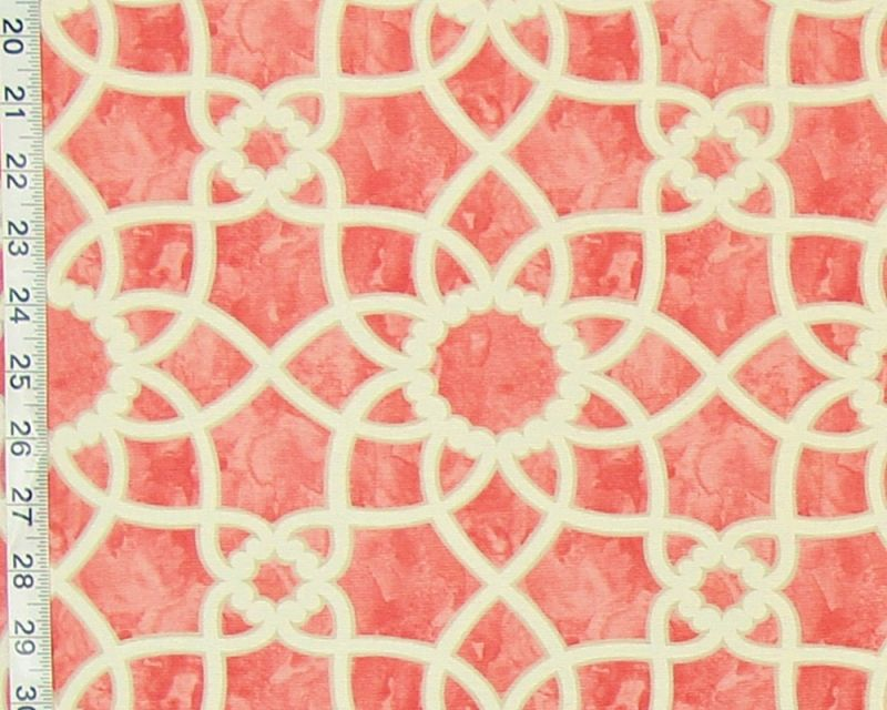 Orange lattice tile fabric