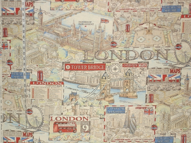 Travel fabrics on sale this week brickhouse fabrics map of london fabric gumiabroncs Choice Image