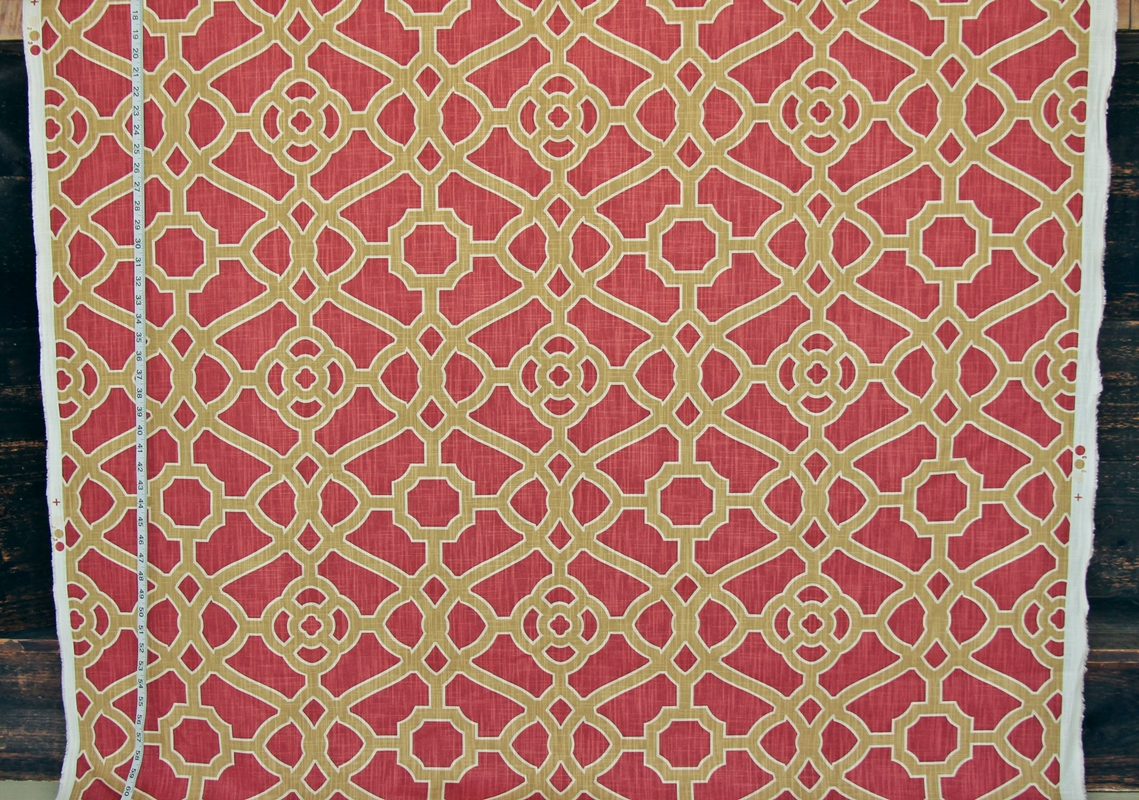 Fretwork Tile Fabric Dot Fabric Newly Listed