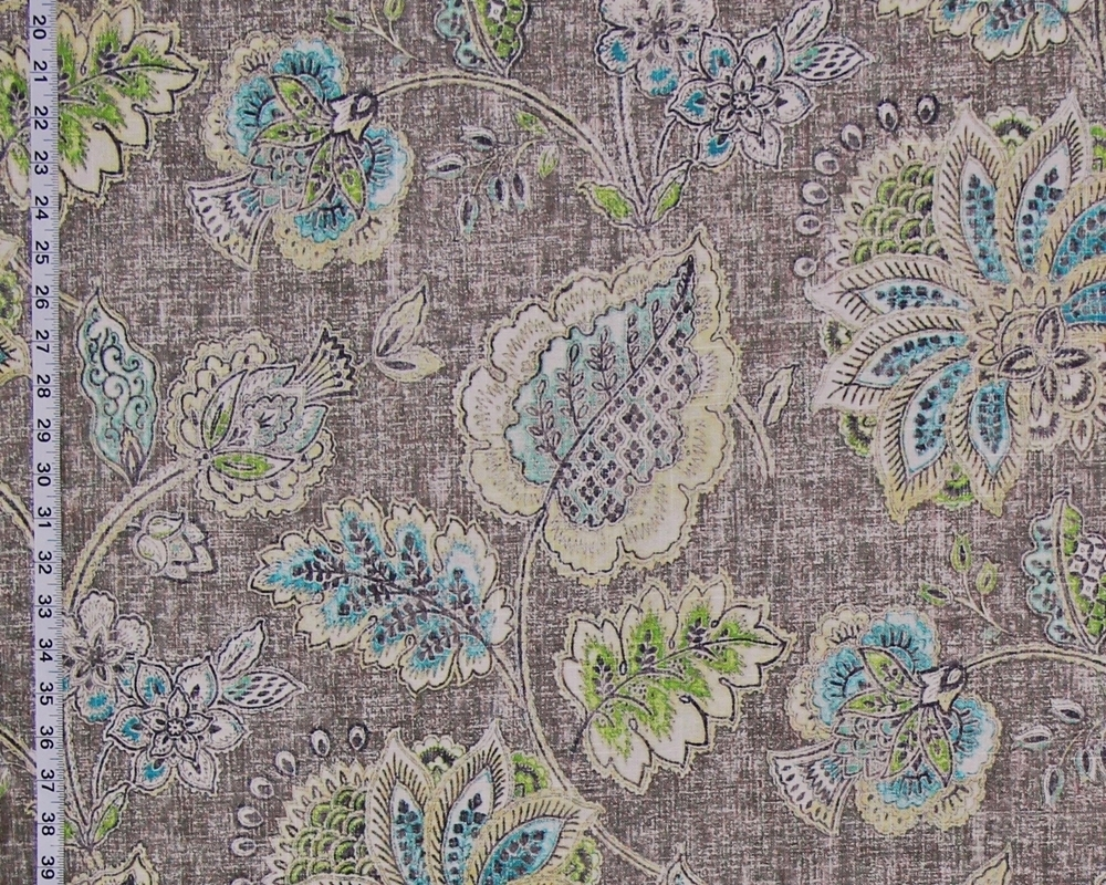 GREY INDIENNE FLORAL FABRIC