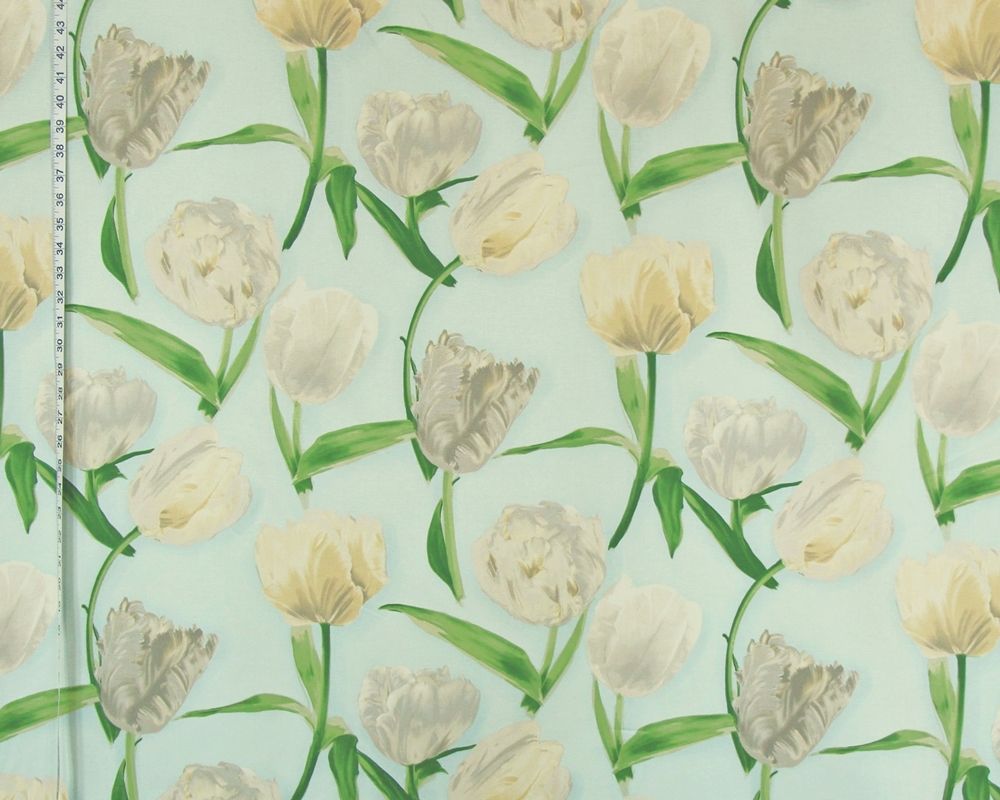 REMBRANDT TULIP FABRIC ON SKY BLUE