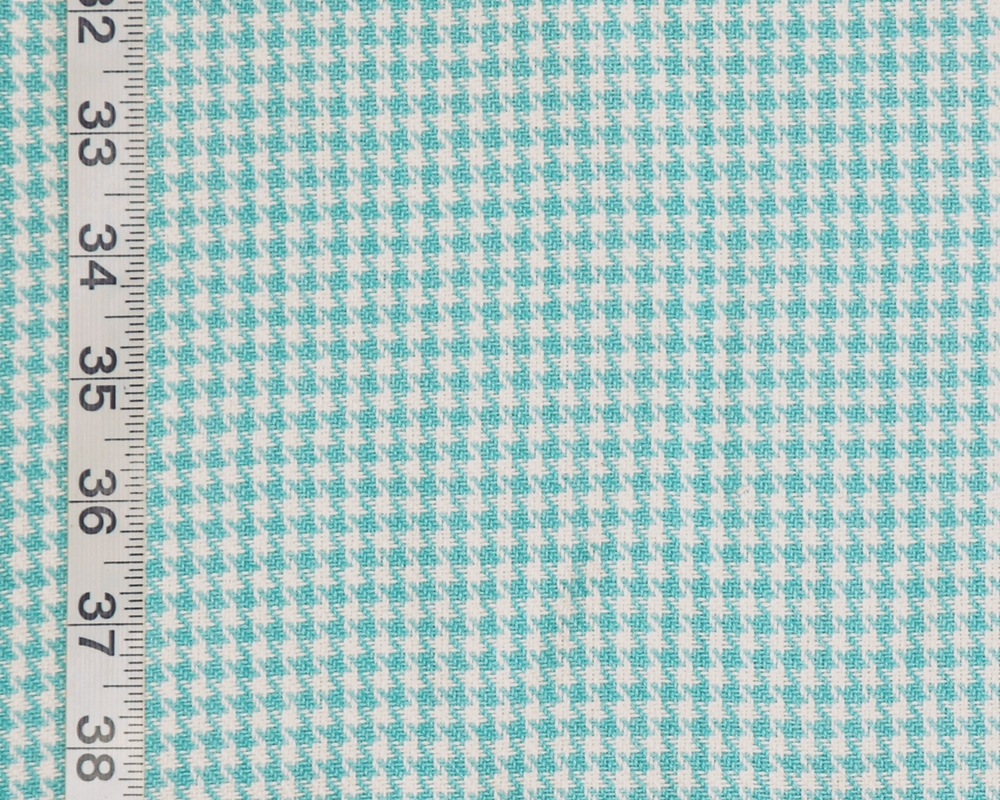 Turquoise Blue Houndstooth Fabric
