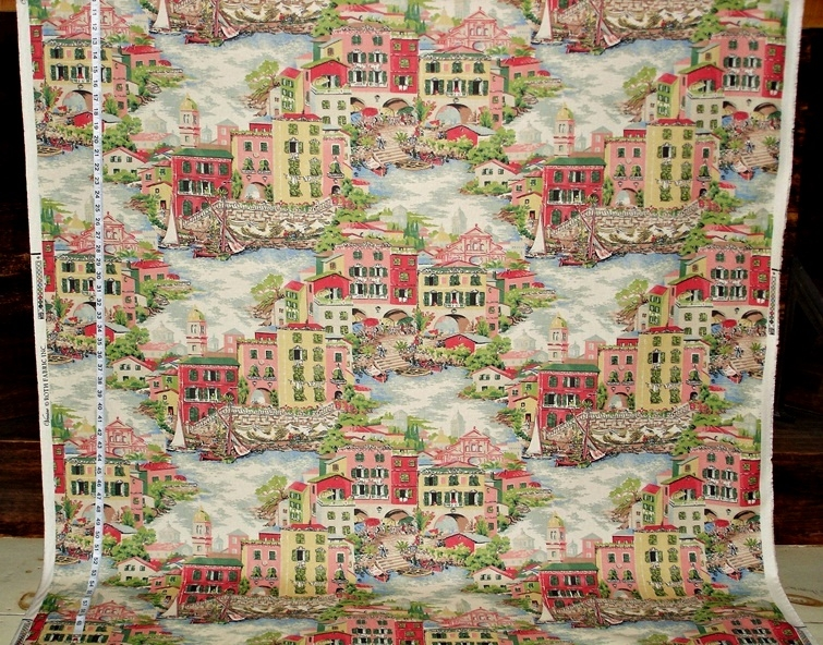 VENICE PINK TOILE FABRIC