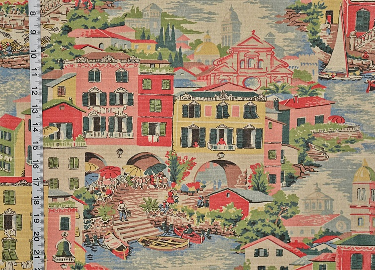 PINK VENICE TOILE FABRIC