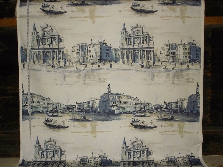 VENICE PAINTING FABRIC in BLUE