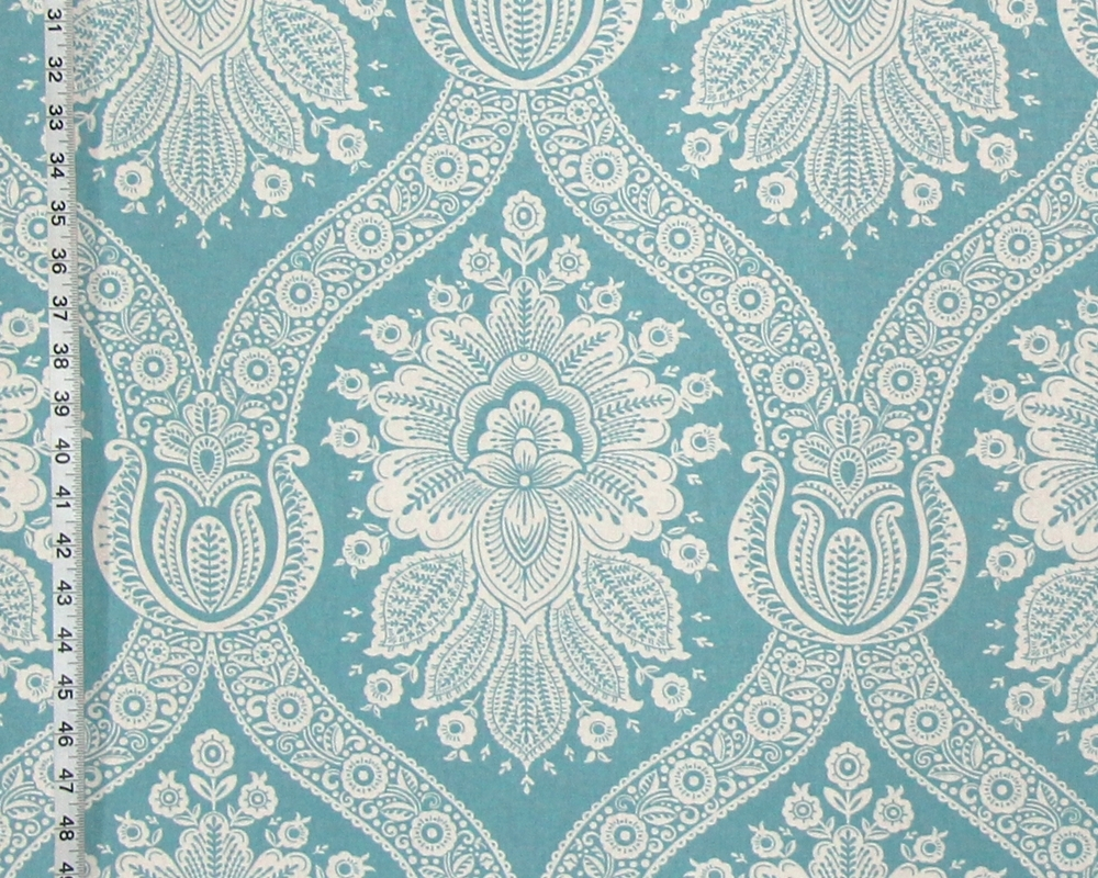 Blue Wallpaper Fabric Floral Modern Colonial Toile A Brick House Fabric  Exclusive Part 52