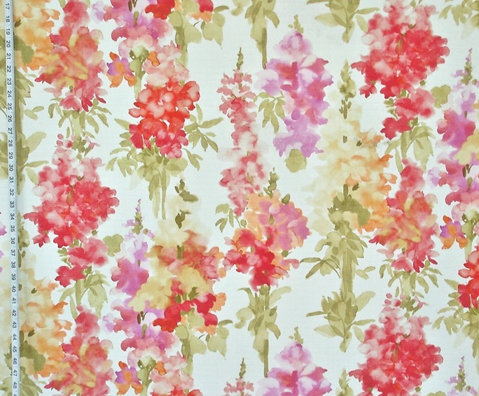 WATERCOLOR SNAPDRAGON FABRIC