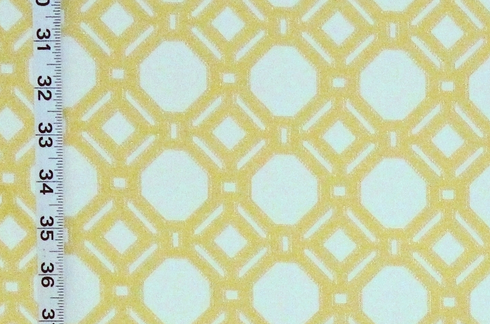YELLOW LATTICE UPHOLSTERY FABRIC