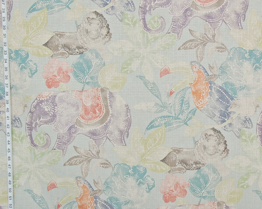 ELEPHANT LION TOUCAN BATIK FABRIC