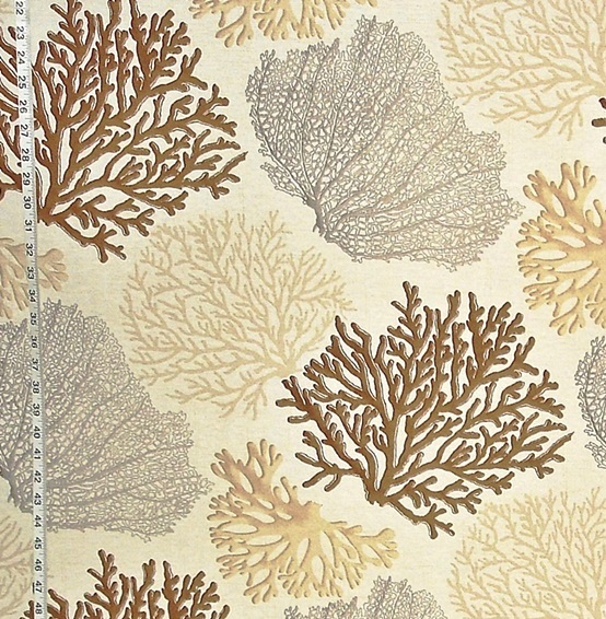 BROWN CORAL FABRIC