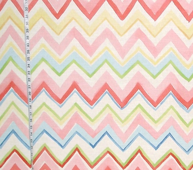 MULTI-COLORED CHEVRON STRIPED FABRIC
