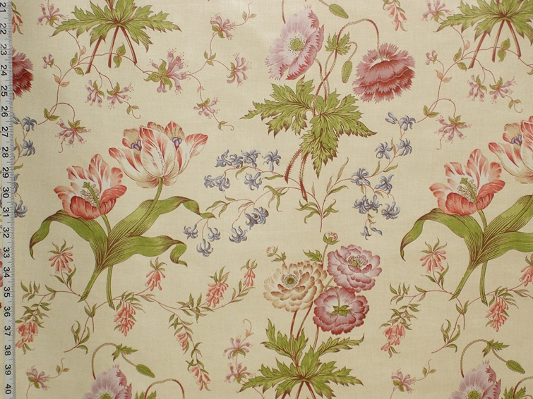 GREEFF TULIP POPPY FABRIC