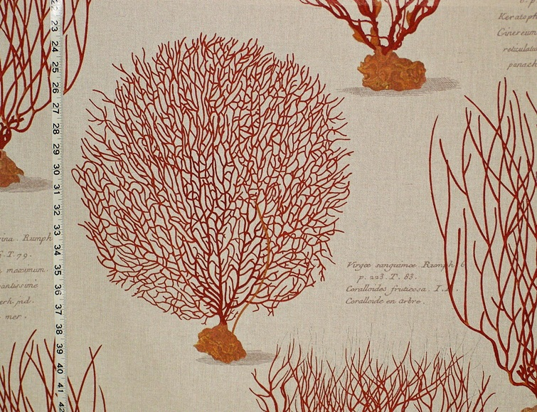 RED SEA FAN CORAL FABRIC