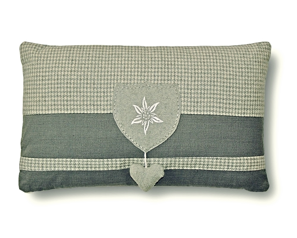 EDELWEISS HEART THROW PILLOW