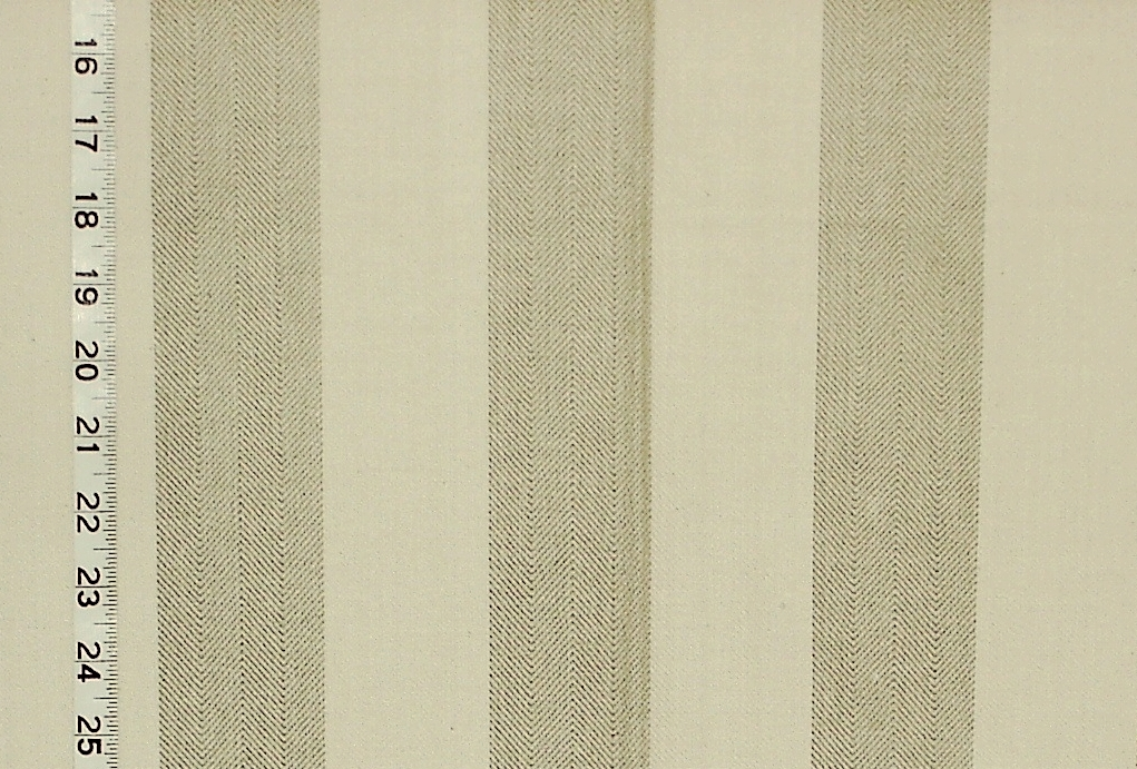 OATMEAL HERRINGBONE STRIPE