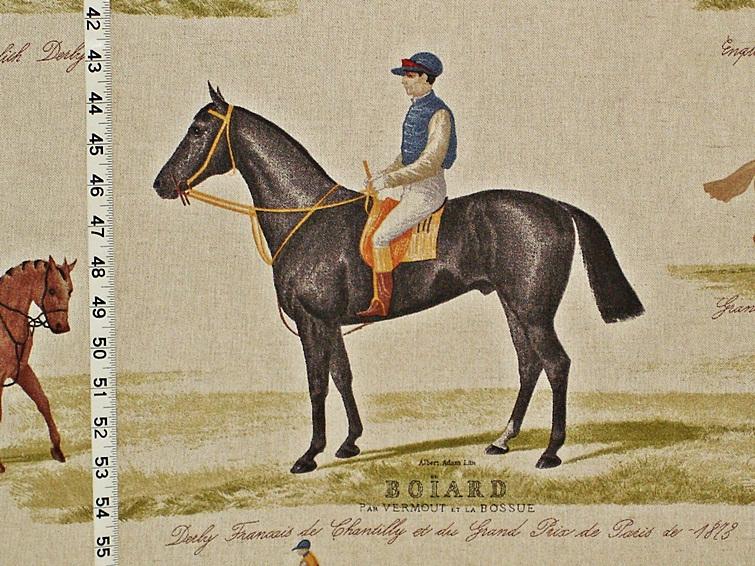 HORSE RACING FABRIC