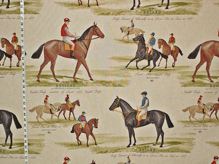 Horse Racing Fabric Brickhouse Fabrics