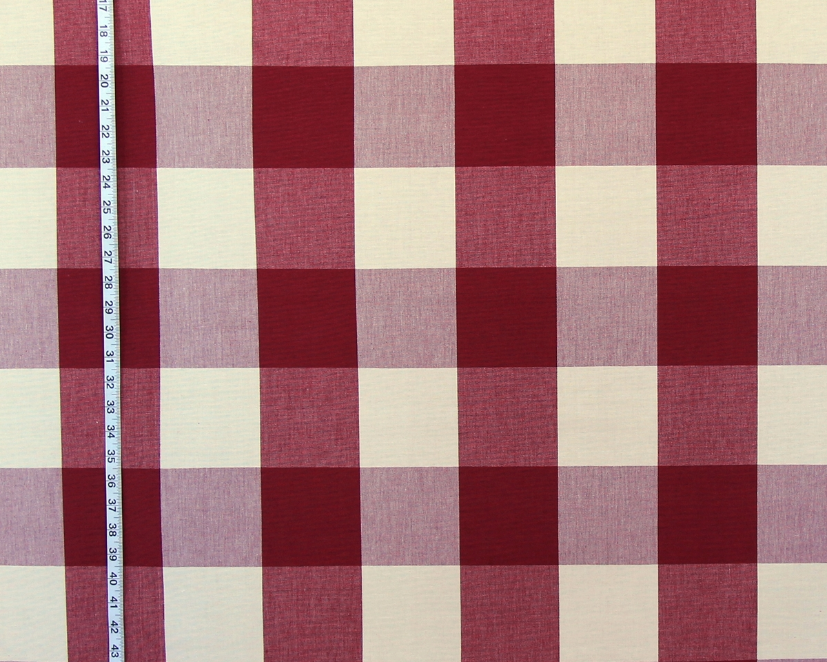 DARK BROWN RED BUFFALO CHECK FABRICv