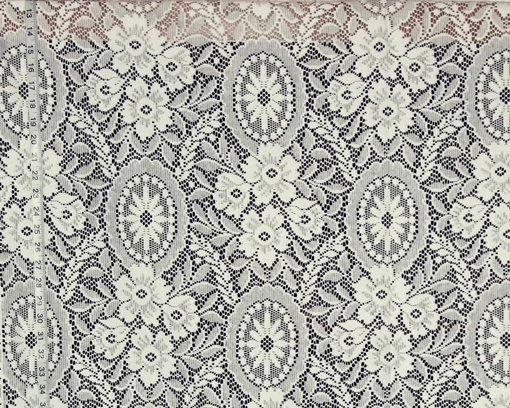 VICTORIAN FLORAL MEDALLION LACE FABRIC
