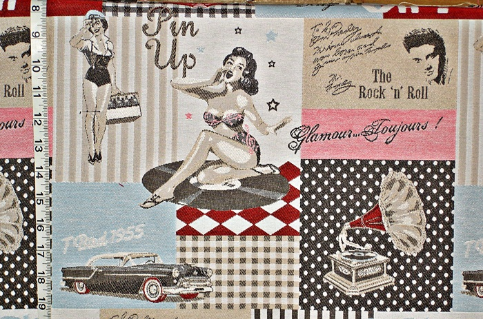 Rock and Roll Hollywood Fabric