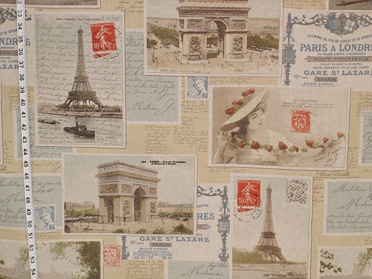 PARIS POSTCARD FABRIC
