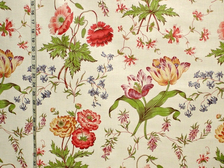 Greeff Fabric Spring Chintz Tulip Poppy From Brick House Fabric