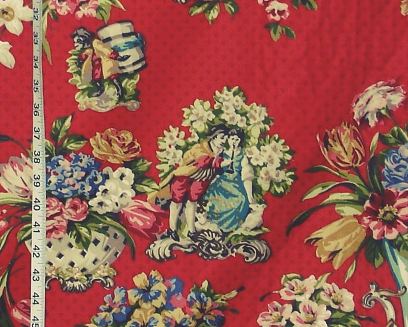 STAFFORDSHIRE FIGURINE FABRIC