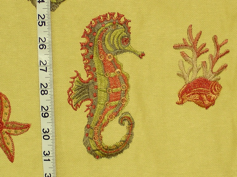 YELLOW SEAHORSE FABRIC