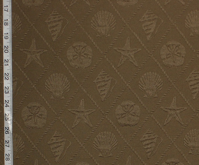 BROWN SEA SHELL TRELLIS MATELASSE FABRIC