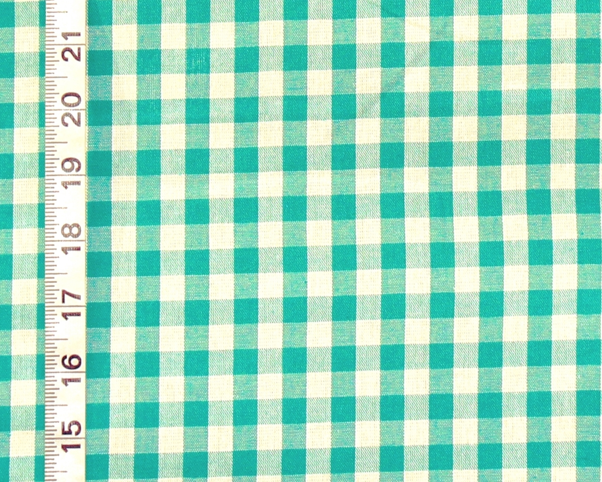 BLUE GREEN TEAL GINGHAM FABRIC