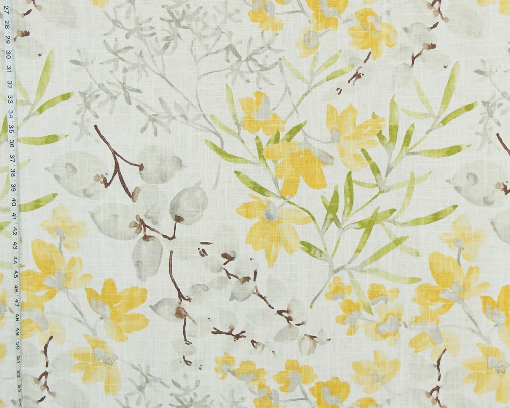 YELLOW WATERCOLOR FABRIC