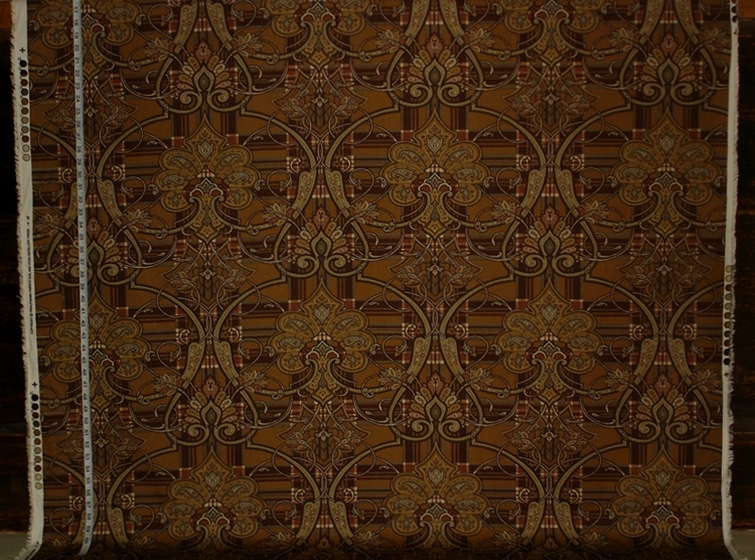 Brown Plaid Paisley Fabric Of The Week 10 March 2015