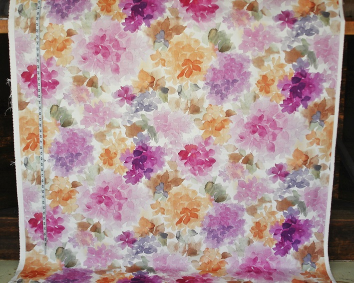 PKNMT Green Watercolor Floral Pattern Purple and Pink