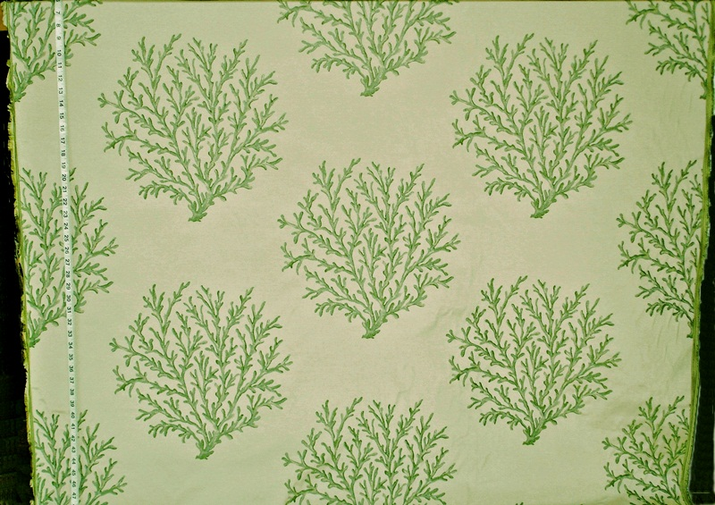 Green Coral Fabric