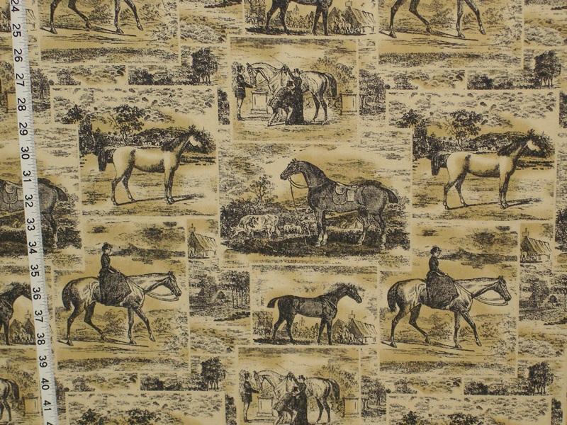Victorian riding fabric