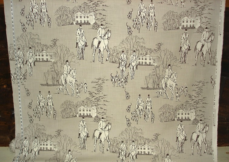GREY HORSE HUNT FABRIC Part 73