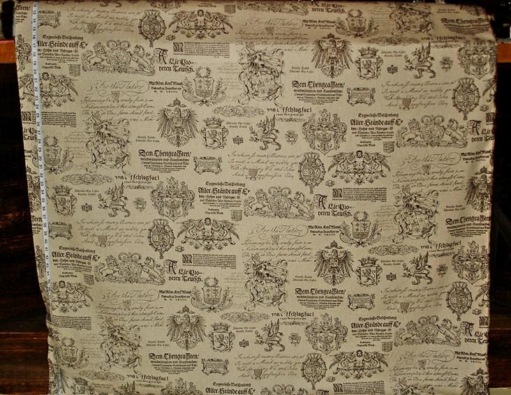 Heraldic shields fabric